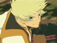 Luke fon Fabre in an anime cutscene from Tales of the Abyss for 3DS