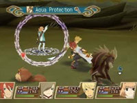 Friendly character casting a protection spell for you in Tales of the Abyss for 3DS