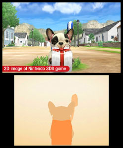 Your French Bulldog has a present for you in Nintendogs + Cats: French Bulldog and New Friends
