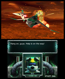 Fox McCloud ally Bill Grey lending you a hand in Star Fox 64 3D