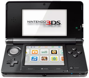 An open Nintendo 3DS - Cosmo Black