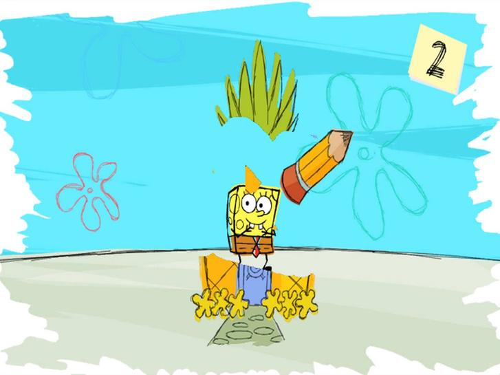 Using the uDraw GameTablet to create edit in SpongeBob SquigglePants