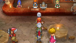 Wireless multiplayer screen from Dragon Quest IX: Sentinels of the Starry Sky
