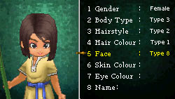 Character customization screen from Dragon Quest IX: Sentinels of the Starry Sky