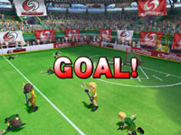 Scoring a goal during a lacrosse match in Deca Sports 3