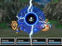 Using magic in Dragon Quest VI: Realms of Revelation