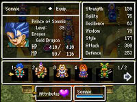 Character stats screen from Dragon Quest VI: Realms of Revelation