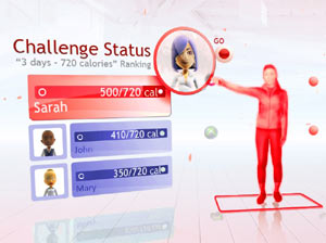 Multiplayer Challenge screen from Your Shape Fitness Evolved