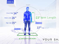 Calibrating body points used by the Kinect sensor for play of Your Shape Fitness Evolved