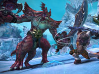 A one-on-one battle on the ice fields in Tera