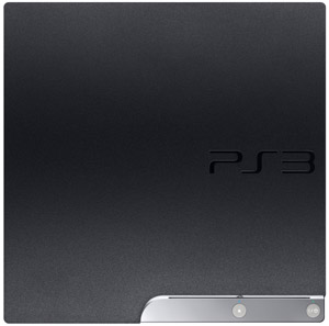 The PlayStation 3 250GB system's textured finish