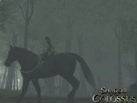 The Wanderer on his horse in Shadow of the Colossus