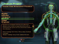 Character class customization screen from Mass Effect 2