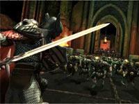 Facing down a swarm of enemies in Dungeons & Dragons Daggerdale