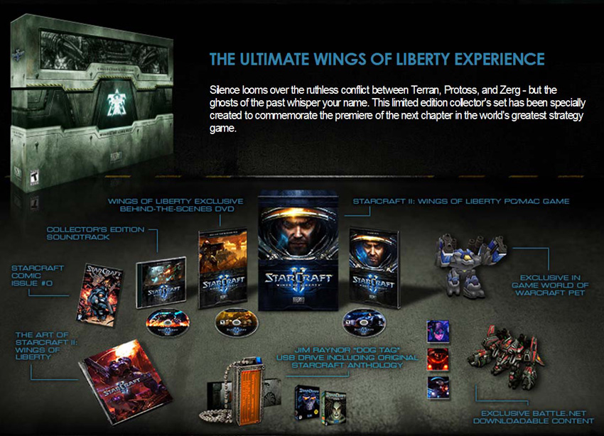 Amazon com: Starcraft II: Wings of Liberty Collector's