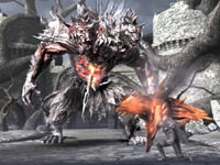 Testing yourself against the hound of hell, Cerberus, in Soul Sacrifice