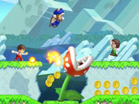 Miis used in-game in New Super Mario Bros. U