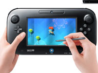 Using the stylus on the Wii U gamepad during gameplay in Nintendo Land