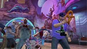 Frank West enjoying Uramus Zone in Dead Rising 2: Off The Record