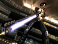 Travis Touchdown and his Beam Katana sword in No More Heroes: Heroes' Paradise