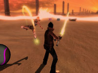 A gameplay screen from No More Heroes: Heroes' Paradise
