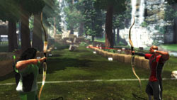 Multiplayer archery game screen from Sports Champions