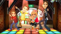 The whole iCarly gamg on the dance floor in iCarly for PC