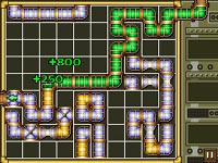 Sludgeworks, a version of the puzzle game Pipe Dream, from TouchMaster 3