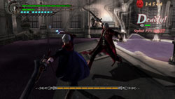 New character Nero battle long-time hero Dante in 'Devil May Cry 4'