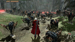 Classic hack and slash play in 'Devil May Cry 4'