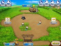 Close-up of farm yard elements from Farm Frenzy: Animal Country