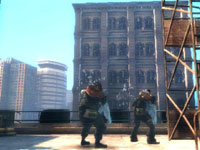 Cityscape environment seen from a roof top in Army of Two: The 40th Day PSP