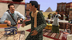 Haggling at the antiquities marketplace in The Sims 3: World Adventures Expansion Pack