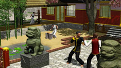 Practicing martial arts in The Sims 3: World Adventures Expansion Pack
