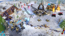 Battle in the snow from Command & Conquer 4: Tiberian Twilight
