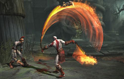 Kratos wielding the Blades of Chaos