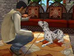 Dog training in The Sims 2 Pets Expansion Pack