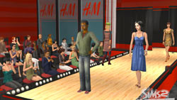 On the catwalk in The Sims 2 H&M Fashion Stuff Pack