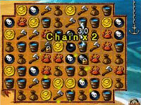 Match 3 chaining bonus from Jewels of the Tropical Lost Island
