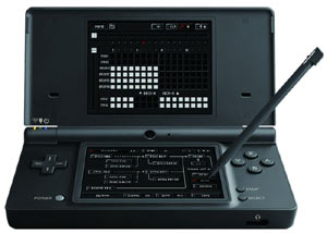 KORG DS-10 Plus played with a stylus on a DSi