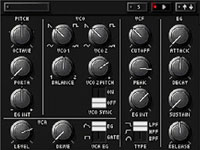 Realistic synthesizer knob controls in KORG DS-10 Plus