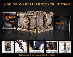 God of War III Ultimate Edition contents