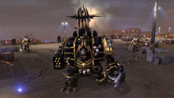 Facing a hulking enemy faction unit in Warhammer 40,000: Dawn of War II: Chaos Rising