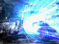 Galen unleashing a special ability on a group of enemies in N3II: Ninety-Nine Nights