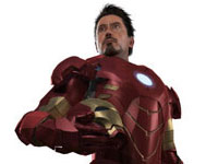 Iron Man with helmet removed in Iron Man 2