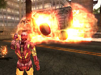Iron Man decimating a vehicle in Iron Man 2
