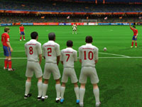 The English team defending against a free kick in 2010 FIFA World Cup