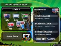 Zakumi's Dream Team screen in 2010 FIFA World Cup