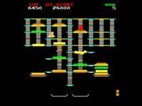 A BurgerTime screenshot from Data East Arcade Classics