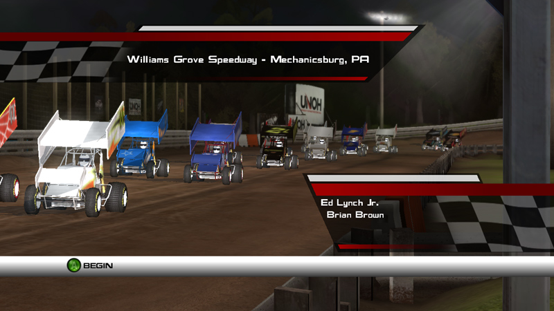 world of outlaws sprint cars xbox 360 pc video games. Black Bedroom Furniture Sets. Home Design Ideas